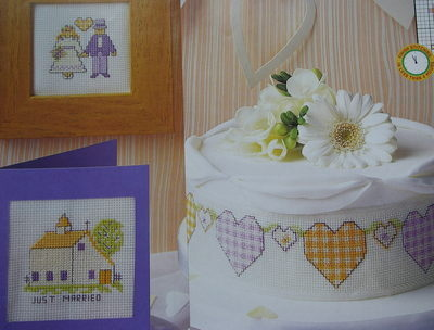 Rustic Country Wedding Cards & Cakeband ~ Cross Stitch Charts