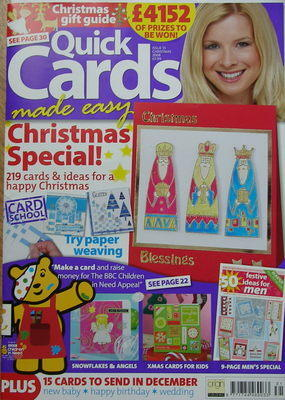 Quick Cards Made Easy Issue 55 Christmas 2008 ~ Papercrafting Magazine
