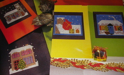 Winter Houses Snow Scenes ~ Cross Stitch Charts