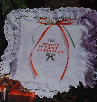 Baby's First Christmas Cushion ~ Cross Stitch Chart