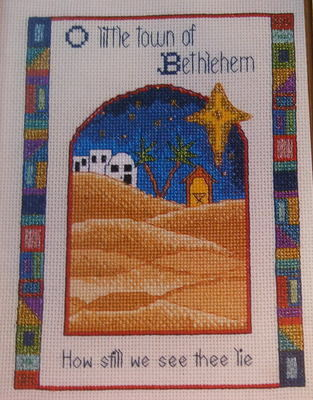 O Little Town of Bethlehem ~ Cross Stitch Chart