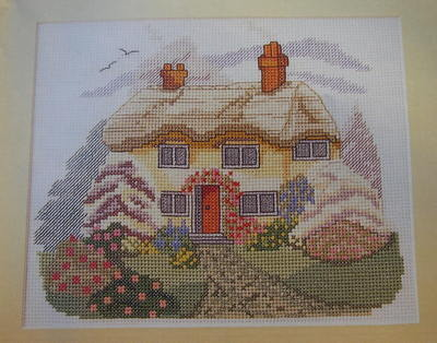 rural country cottage scene cross stitch charts patterns
