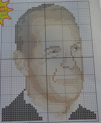 Hollywood Actor: Bruce Willis ~ Cross Stitch Chart