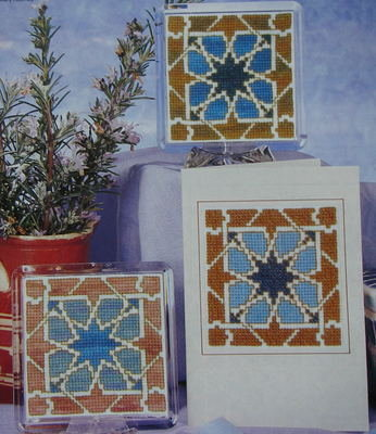 One Tile Design in Three Variations ~ Cross Stitch Chart