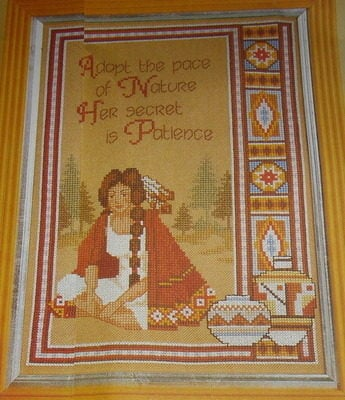 American Indian Girl ~ Cross Stitch Chart