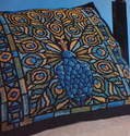 Stained Glass Art Nouveau Peacock ~ Cross Stitch Chart
