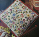 Flowers & Scrolls Canvaswork Footstool/Cushion ~ Pattern