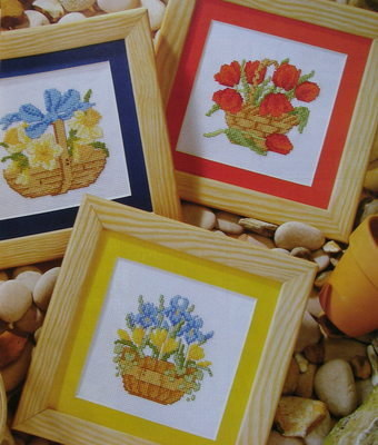 Spring Floral Baskets ~ Cross Stitch Charts