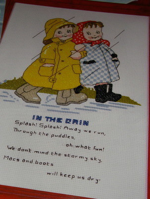 Mabel Lucie Attwell: In the Rain ~ Cross Stitch Chart