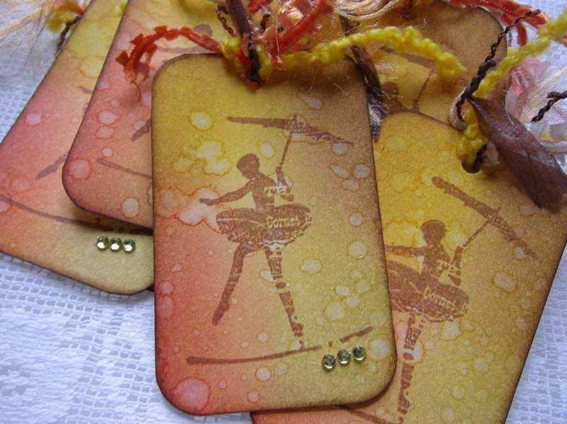 tightrope walker tags close up