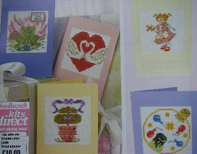 Assorted Good Luck, Thank You & Birthday Cards ~ Cross Stitch Charts