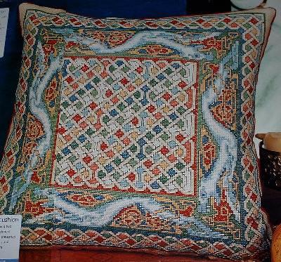 Geometric Celtic Dog Cushion ~ Cross Stitch Chart
