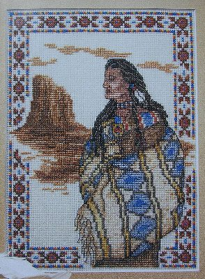 Native American Indian ~ Cross Stitch Chart