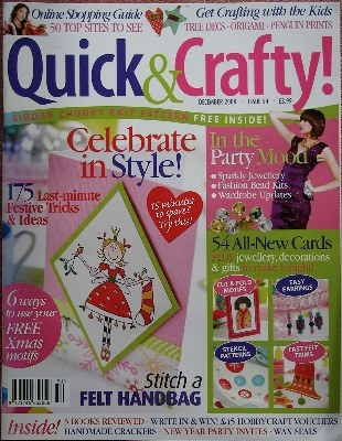 Quick & Crafty December 2008 Iss 54 Christmas Papercraft Mag FREE Gift
