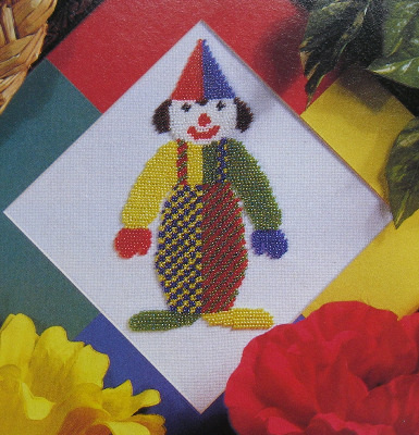 Multicoloured Circus Clown ~ Counted Beadwork Pattern