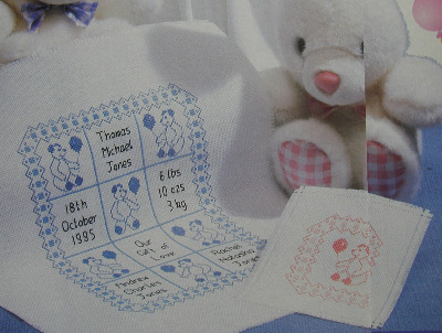 Miniature Quilt Baby Samplers ~ Cross Stitch Chart