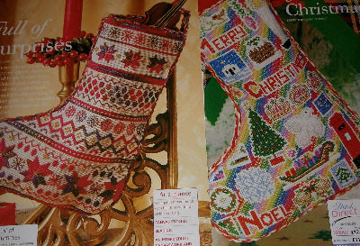 Two Christmas Stockings ~ Cross Stitch & Canvas Work Patterns