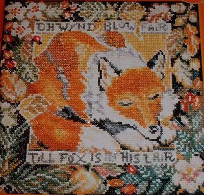 Fox in his Lair ~ Cross Stitch Chart