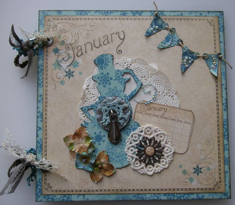 January Treasures Scrapbook Album full