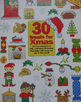 20 Christmas Card Motif Designs ~ Cross Stitch Charts