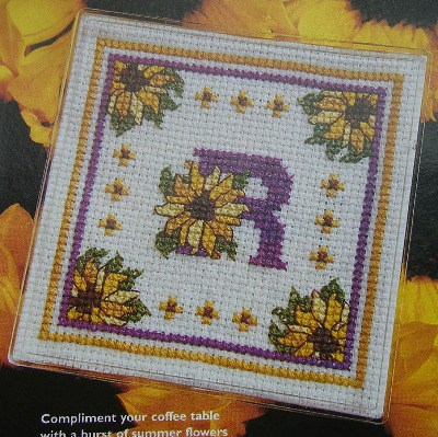 Sunflower ABC Alphabet ~ Cross Stitch Chart