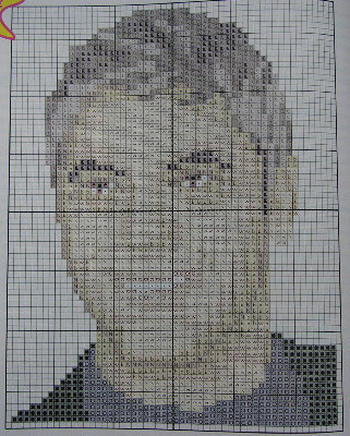 George Clooney: Hollywood Actor ~ Cross Stitch Chart