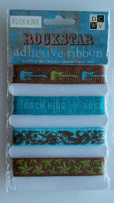 DCWV: Rockstar Adhesive Ribbon ~ Rock King