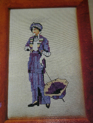 Edwardian lady on Afternoon Outing ~ Cross Stitch Chart