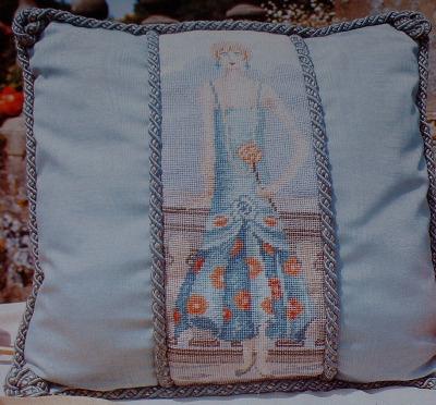 1920's Art Deco Lady Cushion ~ Cross Stitch Chart