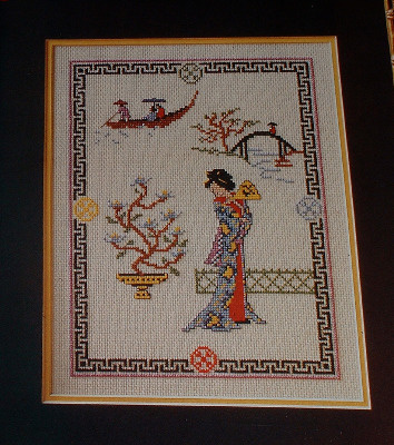 Japanese Oriental Lady Sampler~ Cross stitch Chart