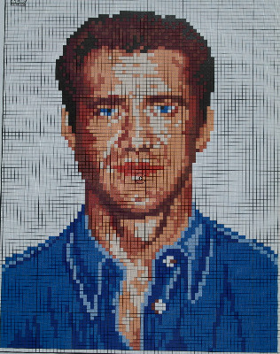 Mel Gibson Hollywood Actor ~ Cross Stitch Chart
