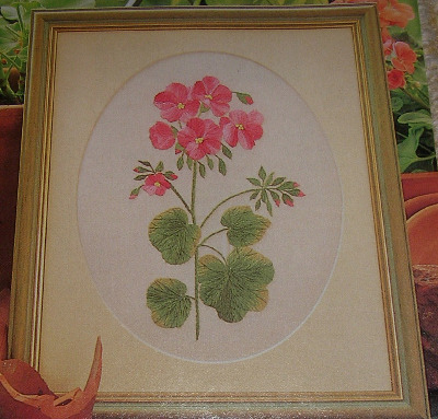 Geranium Flower Hand Embroidery Patterns For Sale