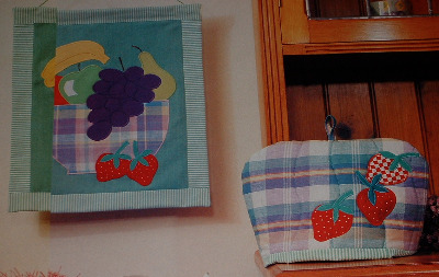 Summer Fruits Wallhanging ~ Machine Applique Sewing Pattern