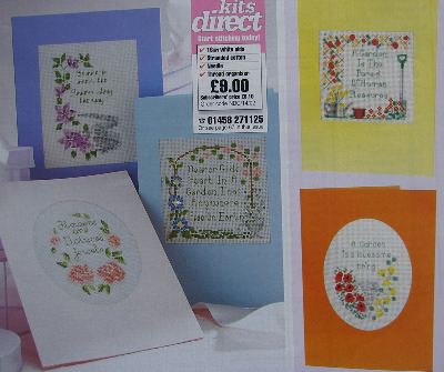 Six Floral Cards with Verses ~ Cross Stitch Charts