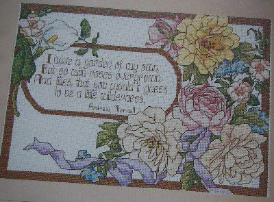 A Garden of My Own ~ Cross Stitch Chart