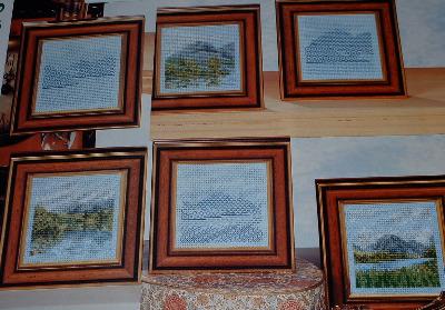 Miniature Landscapes ~ Cross Stitch & Blackwork Patterns