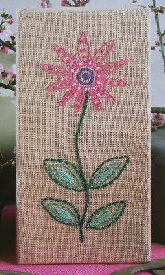 1950's Retro Flower ~ Embroidery Pattern