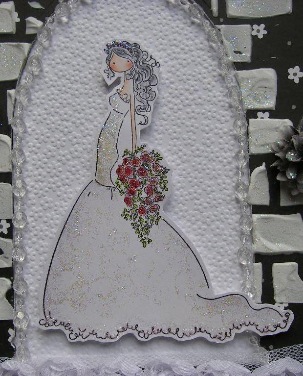 bride in church doorway image