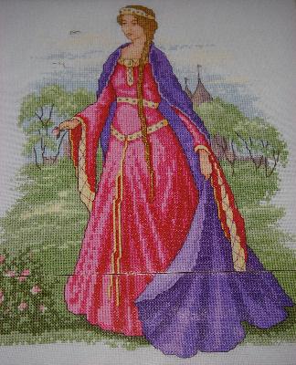 Medieval Maiden ~ Cross Stitch Chart