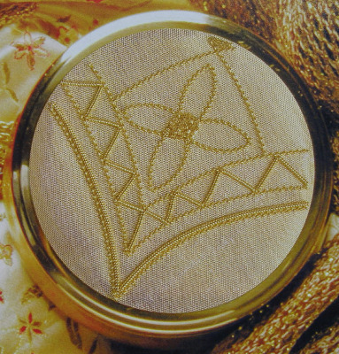 Goldwork Corner Trinket Pot ~ Goldwork Pattern