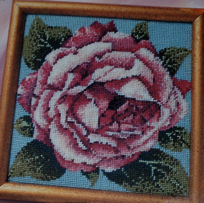 English Rose in Bloom ~ Needlepoint Pattern