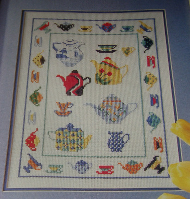 Tea Pot and Tea Cup Sampler ~ Cross Stitch Chart