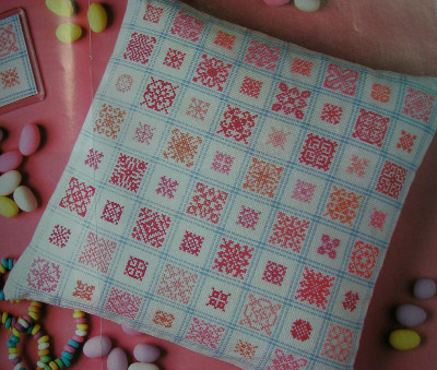 Pink Candy Cushion ~ Cross Stitch Chart