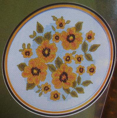 Black-Eyed Susan Flowers ~ Cross Stitch Chart