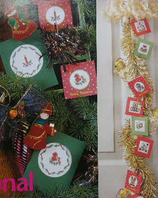 12 Christmas Cards/Gift Tags ~ Cross Stitch Charts