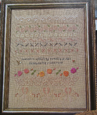 Summer Counted Thread Band Sampler with Ribbonwork Roses ~ Pattern