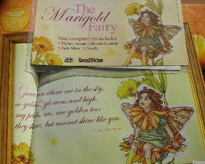 DMC Flower Fairies: The Marigold Fairy ~ Mini Cross Stitch Kit