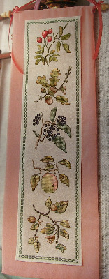 Autumn Nuts & Berries Bell Pull ~ Cross Stitch Chart