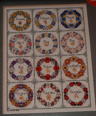 Flowers of the Month Garland Sampler ~ Cross Stitch Chart