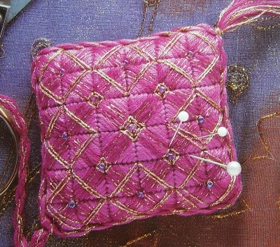 Canvaswork Pincushion ~ Needlepoint Pattern